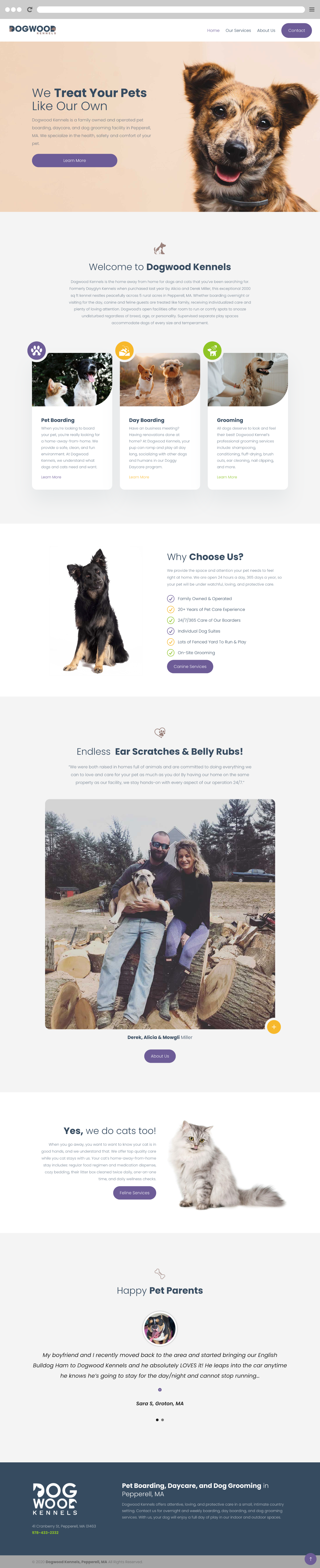 Dogwood Kennels - Pet Boarding & Grooming in Pepperell, MA
