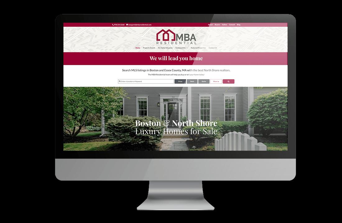 MBA Residential- Real Estate Website Design